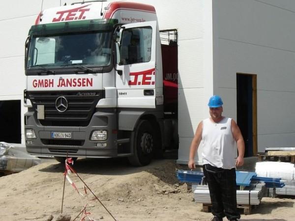 Becton & Dickinson - Belgie - stavba regálu chladící haly (1)